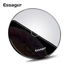 Беспроводное зарядное устройство Essager 10 Вт Qi для iPhone 11 Pro X XR XS Max, беспроводное зарядное устройство для samsung S10 Xiaomi Mi 9