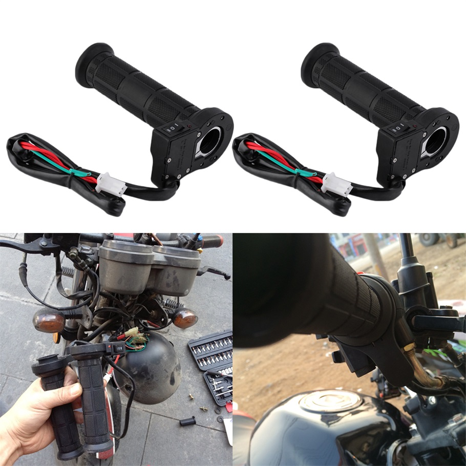 New 1 Pair 22mm Motorcycle Electric Heated Molded Grips Handle Handlebar Warmer Wholesale New Dropping Shipping