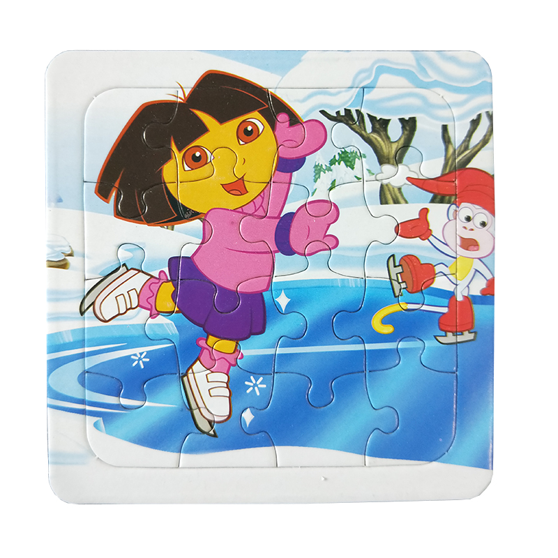 Puzzles Famous Cartoon Dora and Friends Series 16PCS Educational Toy for Children Digita ...