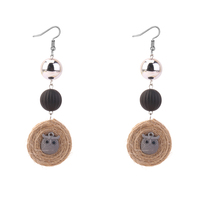 מעגל חבל קנבוס & עגילי ינשוף עגילי טיפה ארוכה כדור דברים זולים תכשיטי מכירה אביזרי אופנה עגילים אופנתיים 4 צבעים