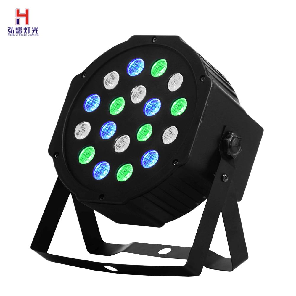 18x3W flat par led RGB mix color wash light disco party lights|Stage Lighting Effect| |  - title=