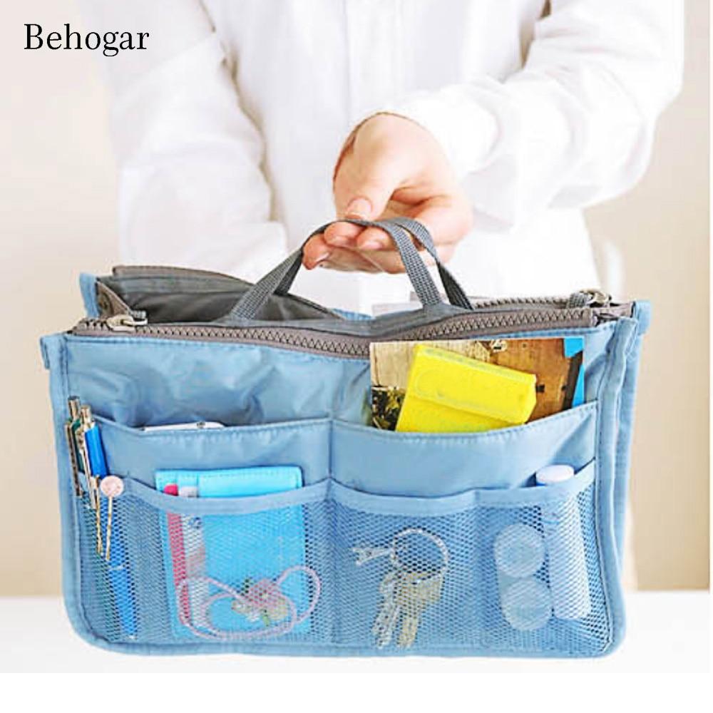 Behogar Women Cosmetic Handbag Lady Girls Travel Outdoor Activities Makeup Pouch Case Toiletry Organizer Pocket Storage Bag