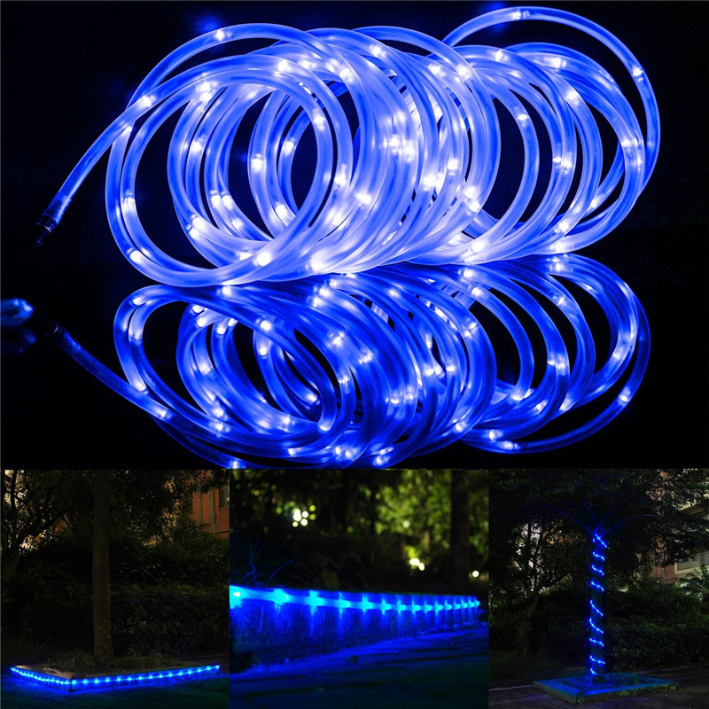 Us 21 44 33 Off Outdoor Waterproof Solar Rope Lights 23ft Daylight White Blue Yellow Ideal For Christmas Garden Patio Weddings Parties In Led