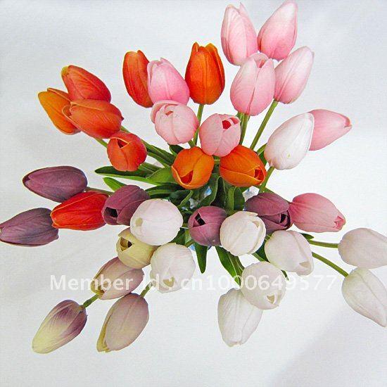 Latex pinkwhitepurpleorange tulips real touch flowers wedding latex pinkwhitepurpleorange tulips real touch flowers wedding bouquet flowers mightylinksfo