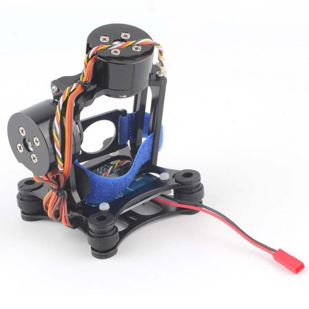 Support de caméra à cardan sans balai avec moteur et contrôleur pour Phantom Gopro FPV noir