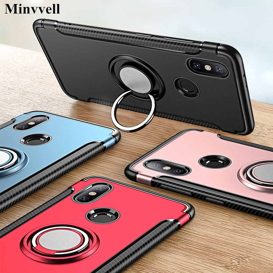 Armor Case For Xiomi Xiaomi Mi A1 Case Fundas Hard Magnetic Ring Armor Cover For Xiomi Xiaomi Mi A2 Lite 6X 8 5x Max 3 Cover