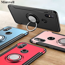 Armor Case For Xiomi Xiaomi Mi A1 Case Fundas Hard Magnetic Ring Armor Cover For Xiomi Xiaomi Mi A2 Lite 6X 8 5x Max 3 Cover(China)
