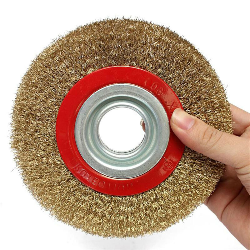 Wire Brush 125mm Wire Wheels Round Brass Plated Steel Stainless Wire Brush Wheel For Bench Grinder Deburring High Quality