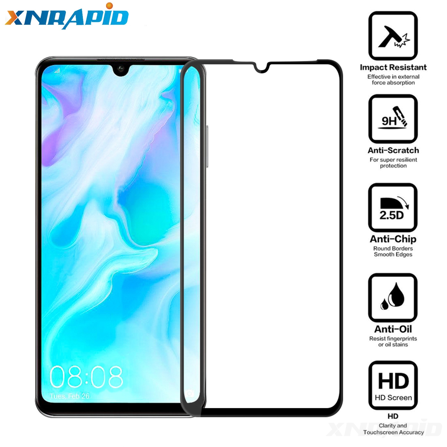 For Huawei P30 P30 Lite P30 pro full Tempered Glass 9H Explosion proof Screen Protector Film Glass in Phone Screen Protectors from Cellphones Telecommunications