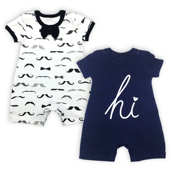 2 pack baby boys clothes babies romper new born overalls toddler jumpsuit 3 12 months infant girls long sleeve pajamas 2 Pack Babies Boys Clothes Baby Romper Newborn Overalls Toddler Jumpsuit 3-24 Months Summer Short Sleeve Infant Girls Coveralls