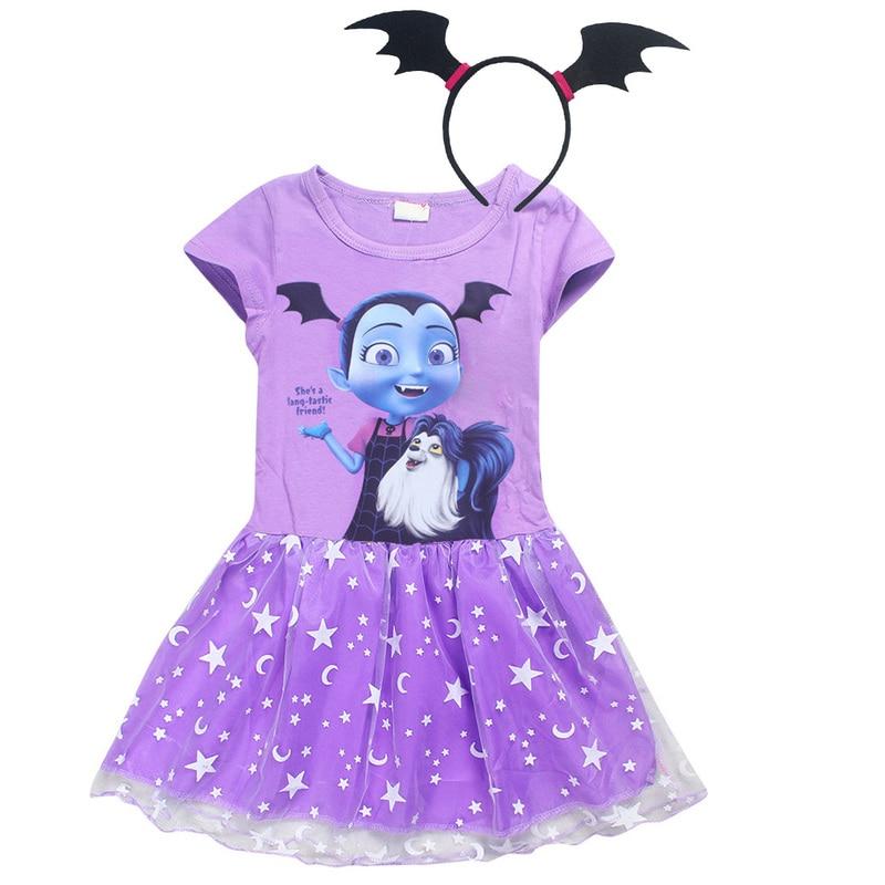 Girls Dress Vampirin 8-Year-Costume Children Print Kids Fashion Summer 7 3-4-6