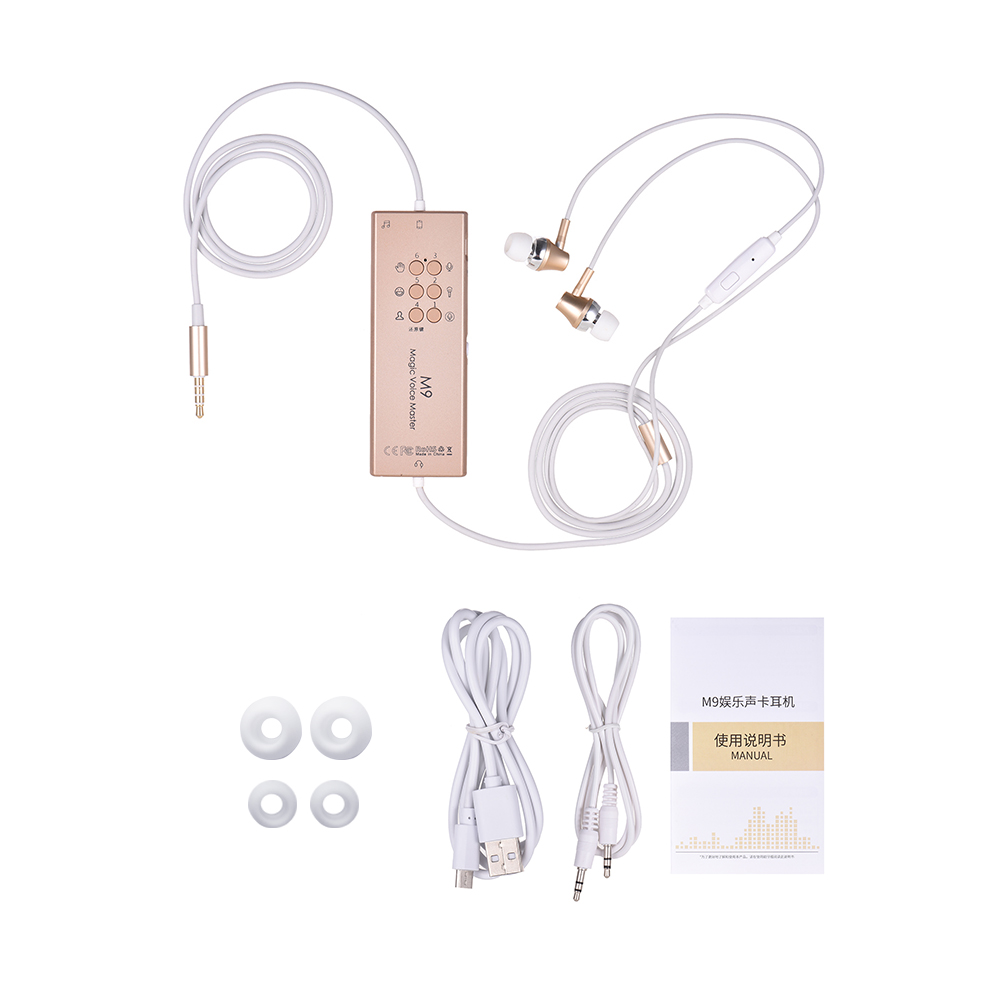 5 Special Sound Effects 4 Changed Voices Sound Card Headphones Earphones Earbuds Dodge Reverberation Function
