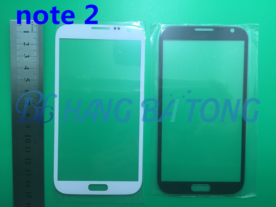 10pcs/lot Front Outer Glass Replacement For Samsung Galaxy NOTE2 NOTE 2 N7100 N7105 LCD Touch Screen Lens Top Glass image