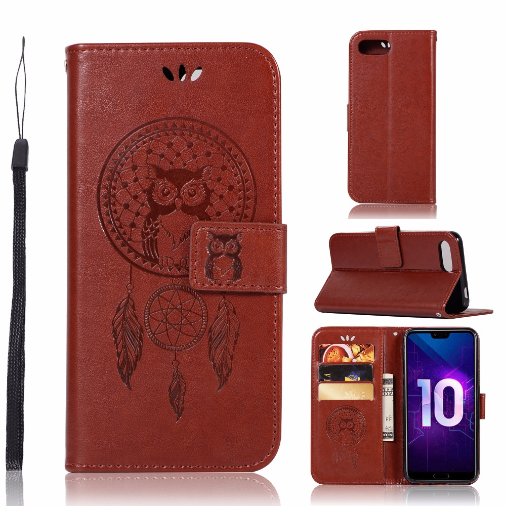Honor 10 Case Funda For Huawei Honor 10 Honor10 Phone Cases PU Leather Owl Wind bell Flip Cover For Huawei Honor 10 5.84-inch