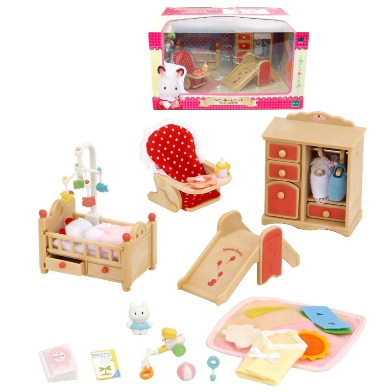 Sylvanian Families room set good friend baby furniture set From Japan