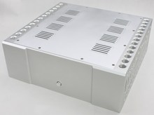 WA66 Aluminum enclosure Preamp chassis Power amplifier case/box size 410*430*150mm