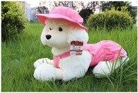 Freeshipping Poodle dog plush toy soft stuffed toy Christmas gift 50cm size