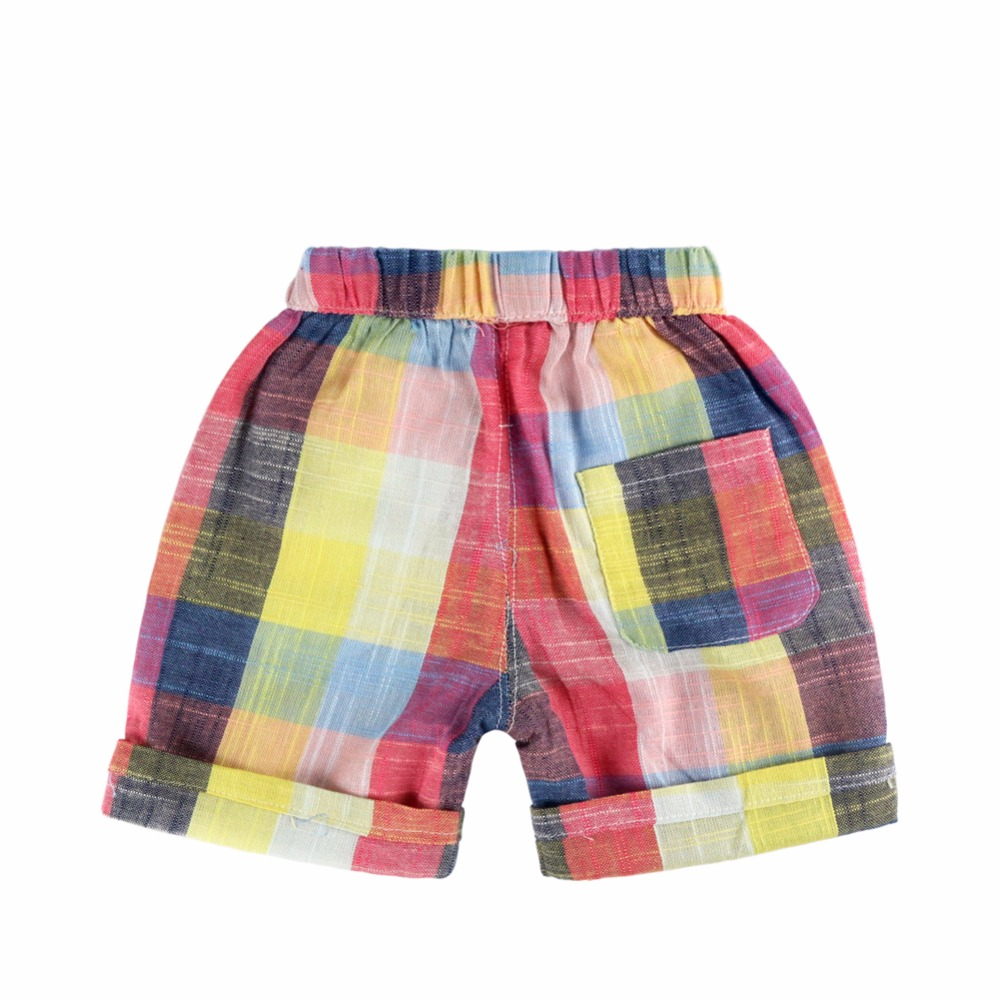 22f075b300 Colorful Plaid Baby Boy Shorts Rainbow Designer Kids Pants For Boys Summer  2018 Casual Boys Pants Children Clothing Short Garcon-in Shorts from Mother  ...