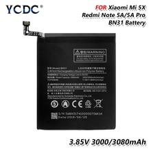 Телефон Перезаряжаемые Батарея BN31 BN-31 BN 31 3,85 В 3080 мАч Замена Батарея для Xiaomi mi 5X mi A1 красный mi Примечание 5A Y1 Lite