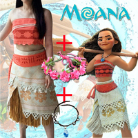 Adult Child Moana Costume Movie Cosplay Princess Party Corset Skirt Belt Custom Made