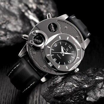 Ejército Diamantes Cuero Marca Populares Pulsera Correa De Imitación Lujo Del Relojes Cuarzo Reloj yIb6Y7vfg