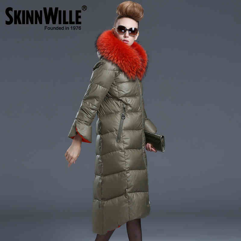 2016 new  winter Thicken Warm woman Down jacket Coats Parkas Outerwear Hooded Raccoon Fur collar  Straight long plus size 2XXL thicken warm 2017 new winter jacket women s parkas coats large raccoon fur collar winter jacket collar hooded fashion quality