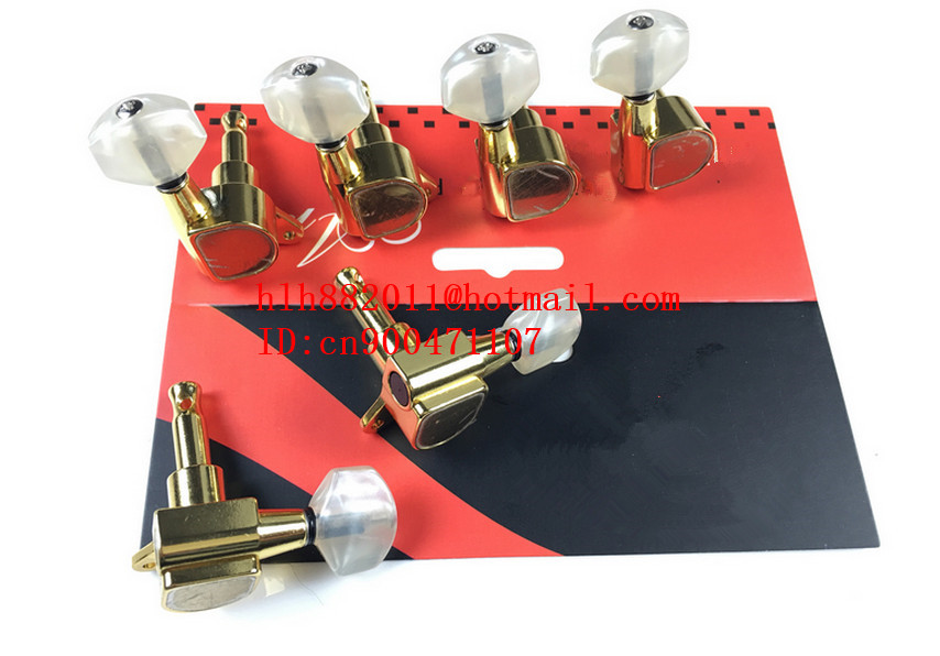free shipping new electric guitar gold D shape tuning peg guitar button   AR-9