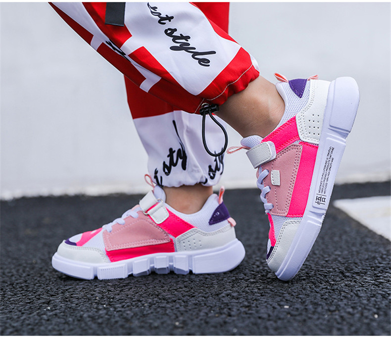 2019 Autumn New Girls Sneaker Kids Shoes Fashion Breathable Pink Leisure Sports Running Shoes For Boys Brand Casual Children Shoes (12)