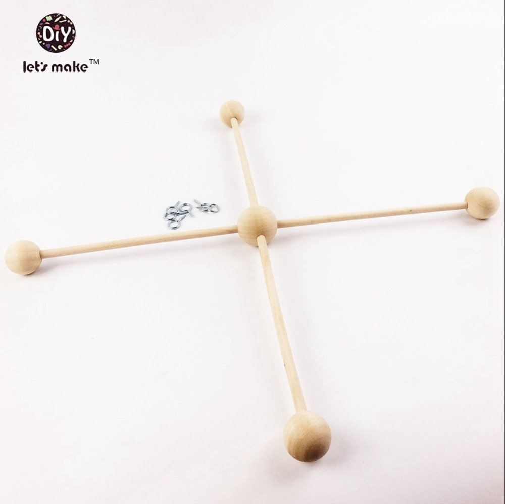 Let's Make The Wooden Baby Crib Toys DIY Handmade Crafts Materials Natural Wood Baby Rattle Baby Toy Accessories Baby Room Decor