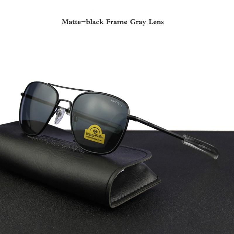 Matte-black Frame Gray Lens