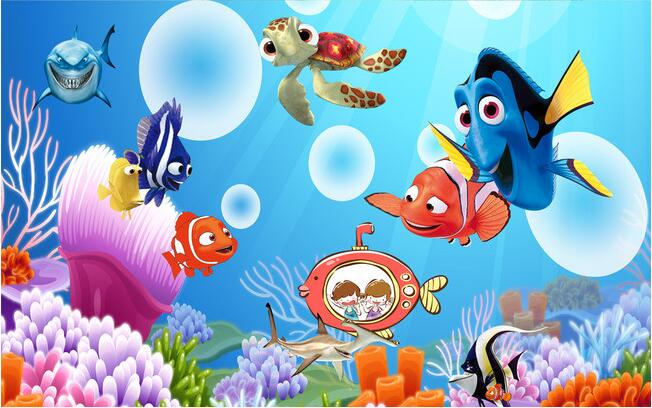 Aliexpress Buy 3d Wallpaper Custom Mural Non Woven Cartoon Underwater World Finding Nemo TV Setting Paintings Wall Room Murals Paper From