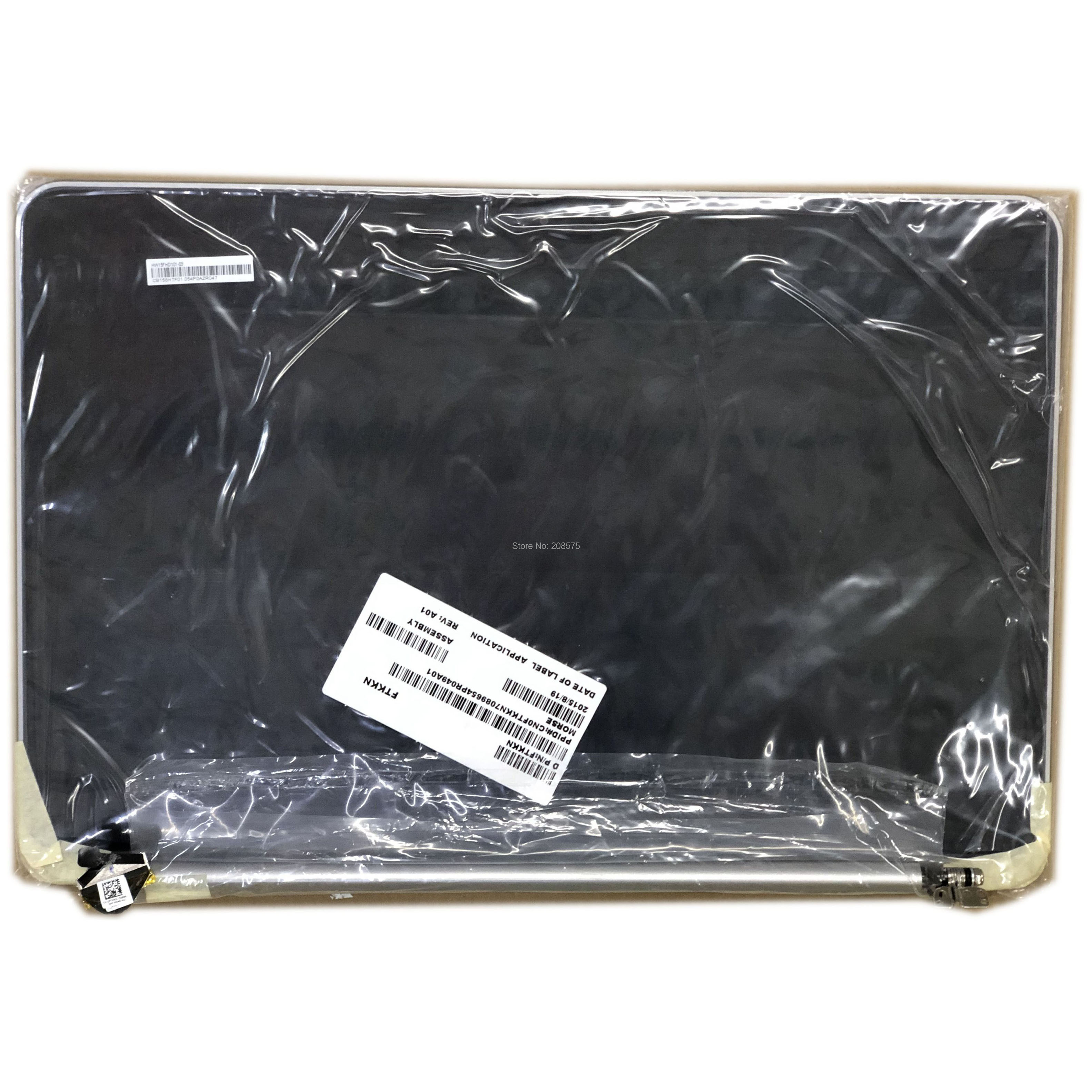 HW15FHD101-03 CB156HTF01 LCD Screen Assembly Complete Upper Half Replacement Parts For DELL XPS 15 L521X PN FTKKN Silver