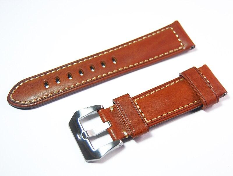 Prix pour Crazy Horse En Cuir Bracelets 24mm 26mm Main Bracelet En Cuir
