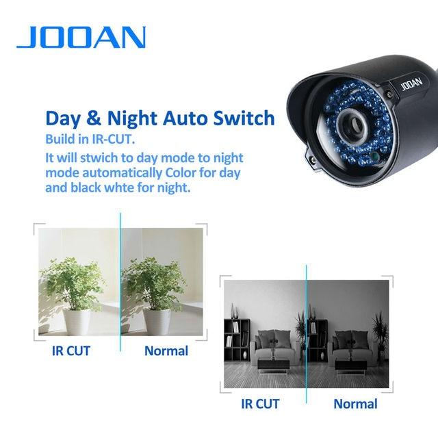 JOOAN 604YRA Security Camera 1000TVL CMOS Sensor 42 IR-Leds 3.6mm Lens Waterproof Bullet CCTV Video Surveillance Black Camera