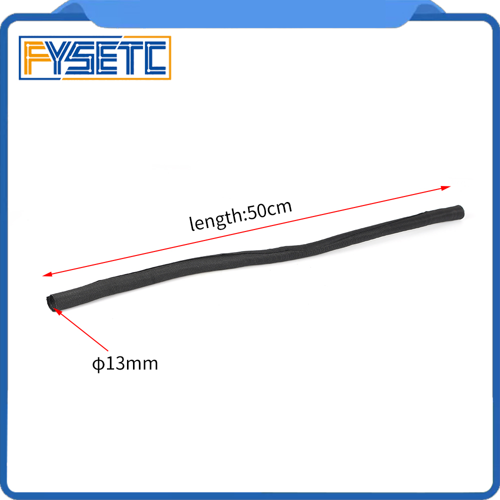 3D Printer Parts L 50CM OD 13mm Textile Sleeve Cable Wire Wrapping Connected Cable For Prusa I3 MK2S/MK2.5/MK3 Hotend Extruder