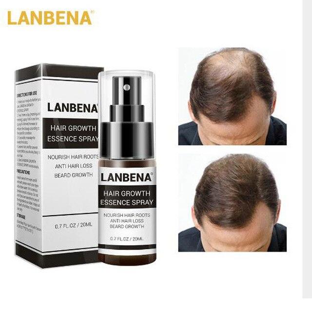 LANBENA espray para el crecimiento del cabello 20 ML nutrir las raíces Anti pérdida barba nutritiva cuidado de la cabeza