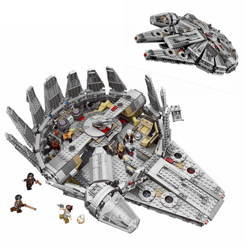 1381pcs Millennium Falcon Model Star wars Space Ship Building Blocks Bricks Toys for Children Compatible with Legoe 10467 05007 [yamala] star wars 7 1381pcs millennium falcon force awakening building blocks toys for children toys compatible with lepin