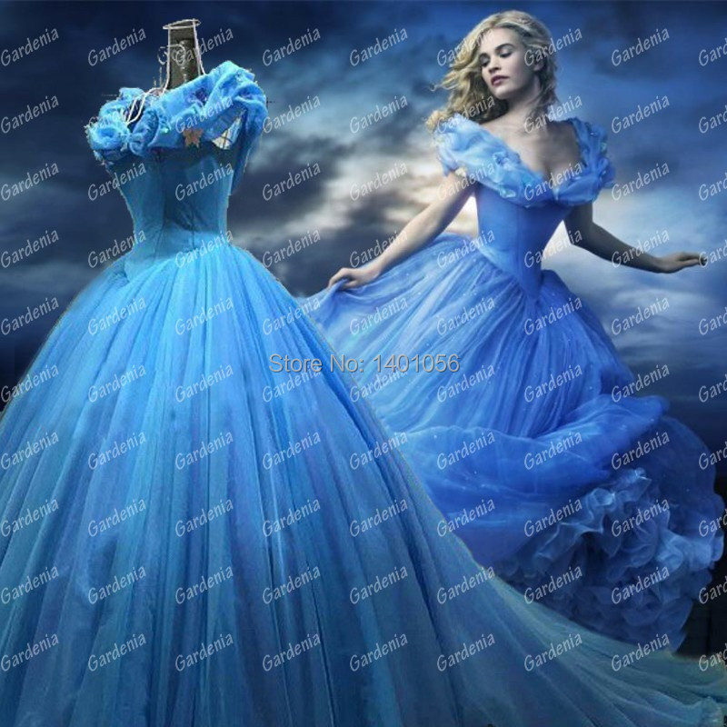 Real Photos New movie Cinderella Princess 2015 Vestido De Noiva Ball ...