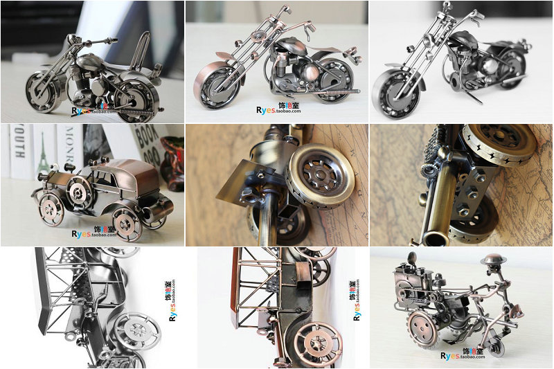 Wholesale/retail, free shipping, Retro metal Harley iron motorcycle bicycle model creative living room crafts Decoration gifts