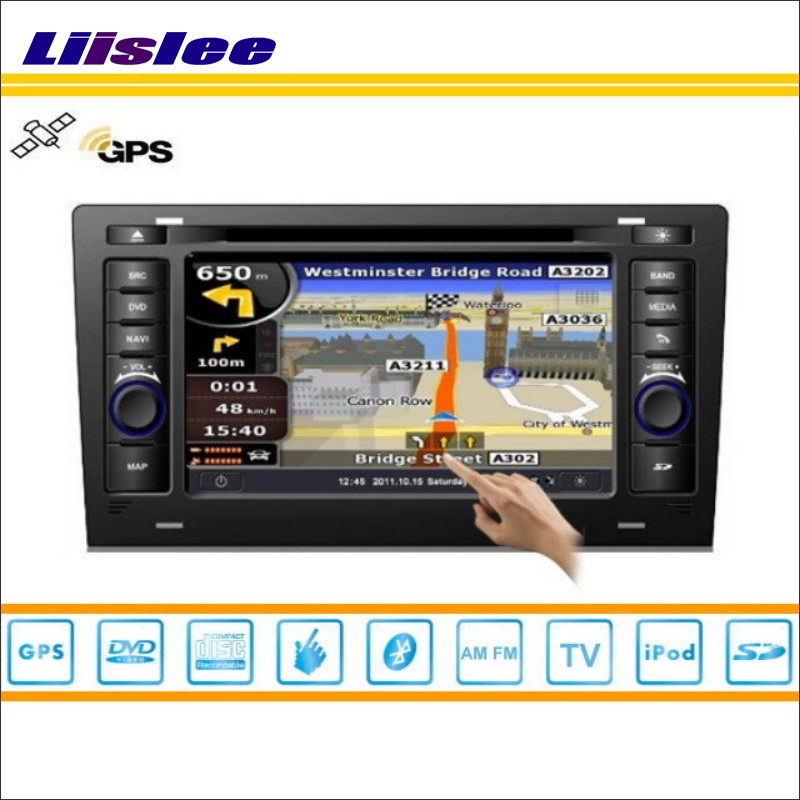 Liislee Per Audi A8 1994 ~ 2003-Indash GPS Nav Mappe di Navigazione Lettore DVD Stereo Radio TV BT iPod 3G WIFI 1080 P S100 Sistema di Navigazione