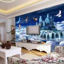 Custom luxury 3D Wallpaper luxury,dream angel heaven for the living room bedroom wall TV background wall papel de parede(China)