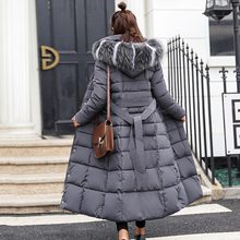 X-Long 2018 New Arrival Fashion Slim Women Winter Jacket Cotton Padded Warm Thicken Ladies Coat Long Coats Parka Womens Jackets