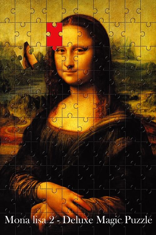 Mona Lisa 2 Magic Puzzle Magic Tricks Stage Magic Mentalism Magia,Classic Magie Toys,Joke,Gadget,Gimmick цена и фото