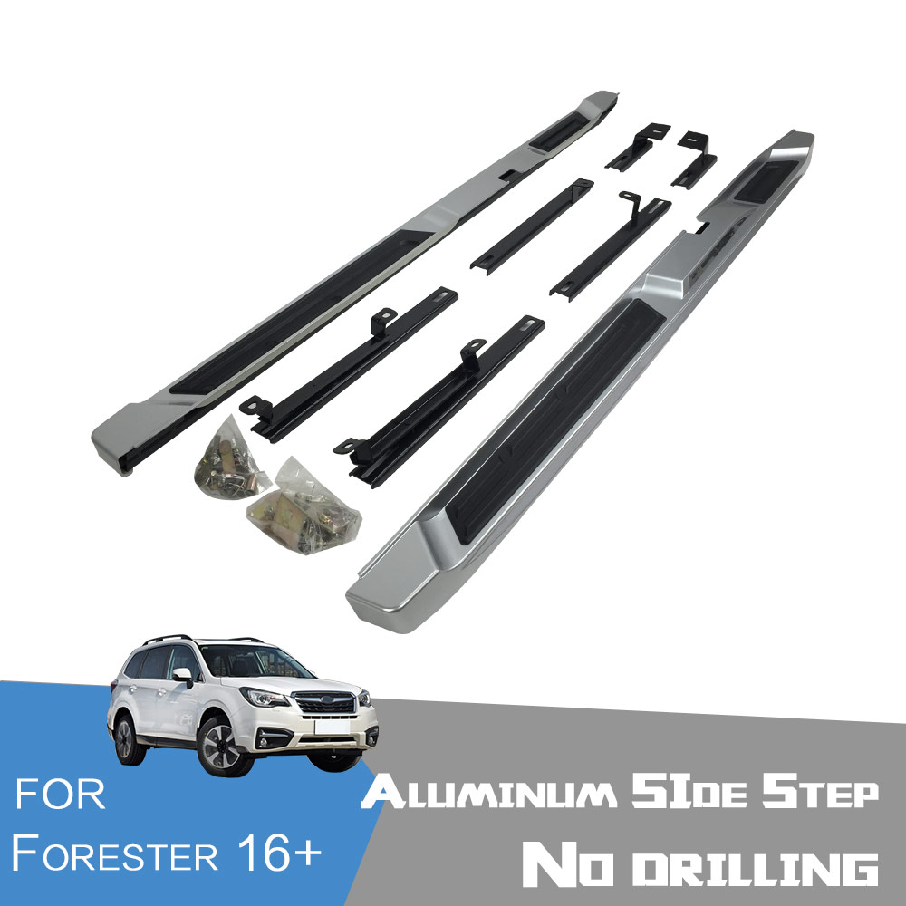 Oem style aluminum side step running board nerf bar suitable for subaru forester 2016