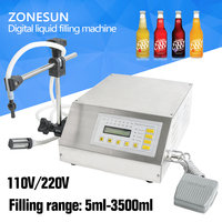 Liquid Filling Machine For Shampoo Cosmetic Juice Stainless Steel Single Head With Cylinder Semi Liquid Filler