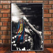 Messi fútbol rey estrella de la pared de Messi cartel lienzo pintura Leo  Messi Posters e 19a8f296baf