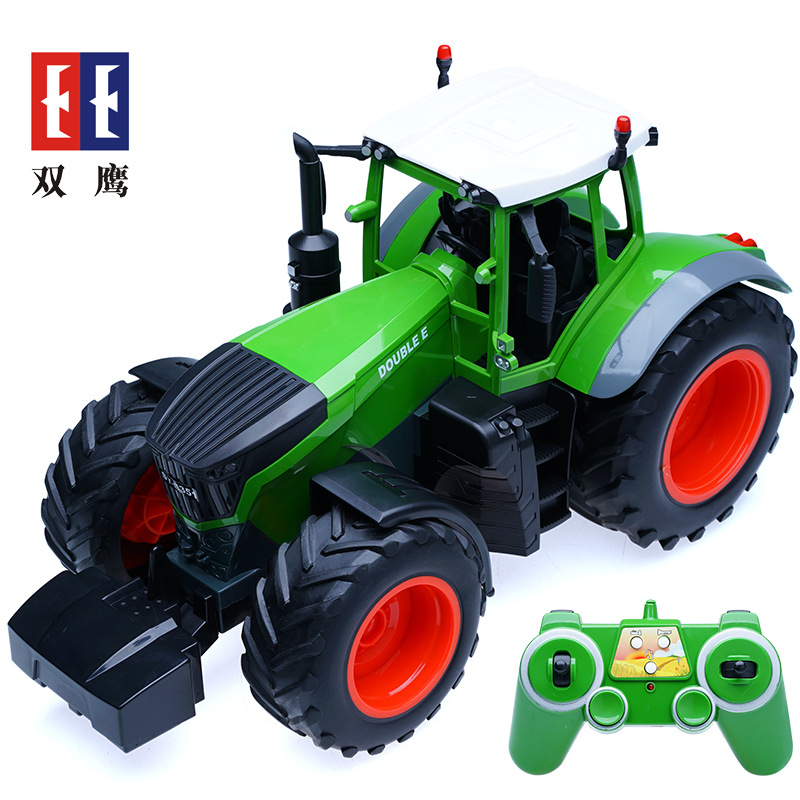 rc truck 4 channel farm tractor plough set paratactic double 5 blade rake remote control farm tractor with plough model toy 1:16 Farm Tractor Toys Electric Rc Plastic Trucks Toys 6 Channel 2.4g Engineering Machine Remote Control Model Toys With Battery