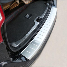For Volvo XC60 2008-2012 Car Rearguards Stainless Steel Rear Bumper Trunk Fender Sill Plate Protector Guard Covers