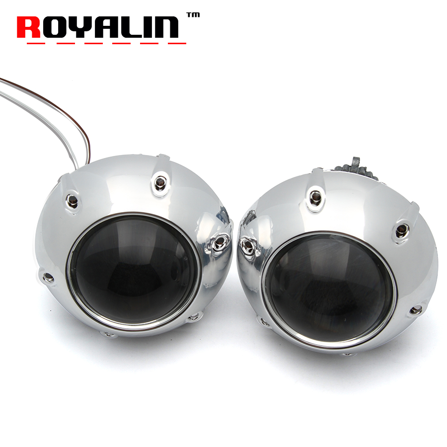 ROYALIN Car Stying Full Metal Q5 Bi Xenon Mini 3.0 D2S D2H Projector Lens for H4 HID Car Lights with Shoruds for GTI Mask Auto