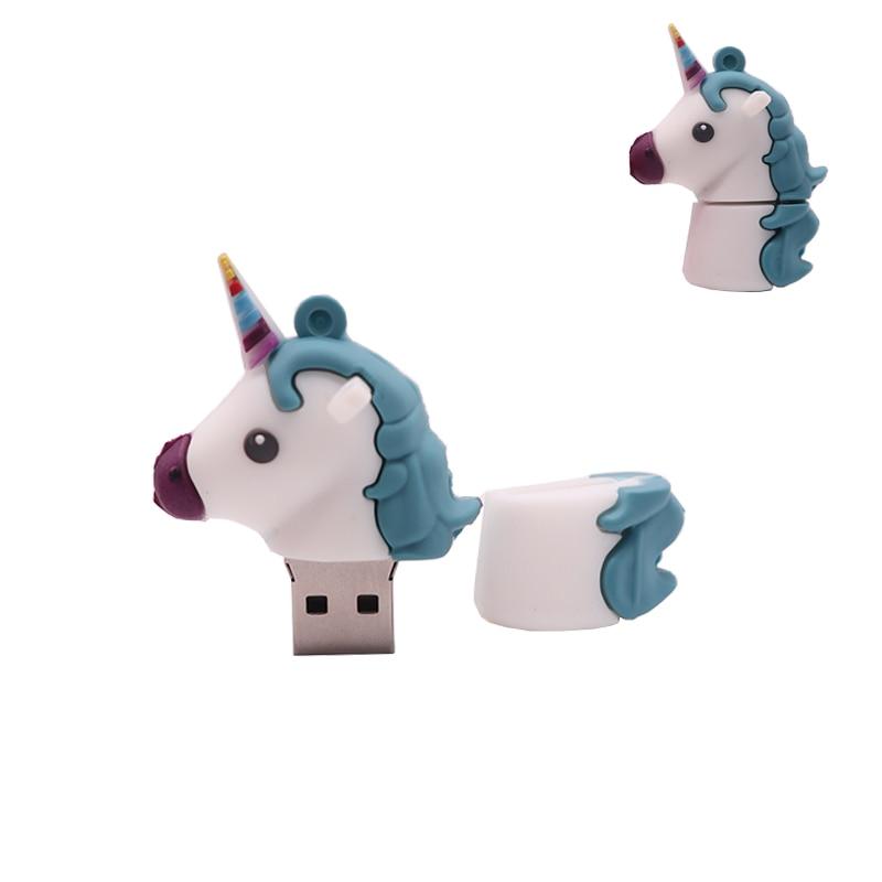 Real 32GB 64GB 128GB Cartoon Animals USB 2.0 Thumb Memory Stick Gift Flash Drive